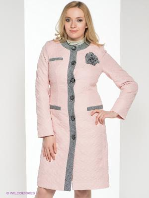 Пальто Brillare. Цвет: бледно-розовый