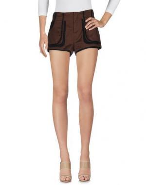 Повседневные шорты MORGAN DE TOI. Цвет: темно-коричневый