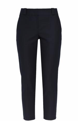 Укороченные брюки прямого кроя The Row. Цвет: темно-синий
