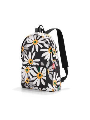 Рюкзак складной Mini maxi margarite Reisenthel. Цвет: черный, оранжевый, белый
