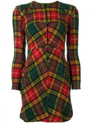 Платье в клетку Junya Watanabe Comme Des Garçons Vintage. Цвет: красный