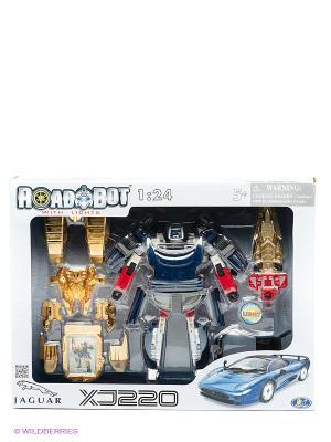 Робот-трансформер Happy Well. Цвет: золотистый, синий, красный