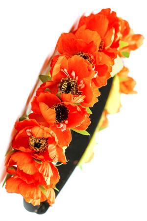 Ободок с цветами FRANSUA ARDY. Цвет: оранжевый