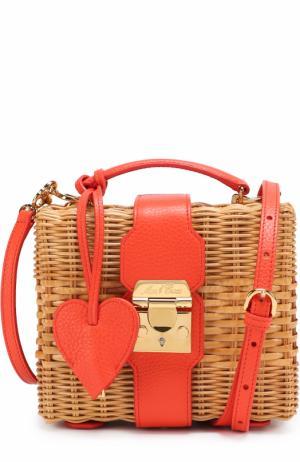 Плетеная сумка Grace Mark Cross. Цвет: красный
