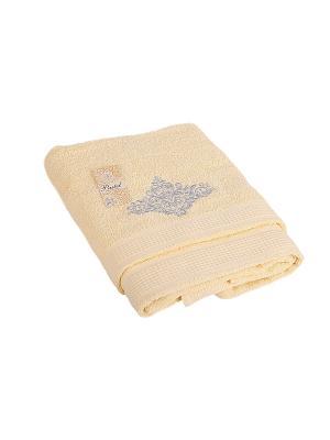 Комплект полотенец 2 предмета (50х90,70х140) Silver La Pastel. Цвет: светло-желтый