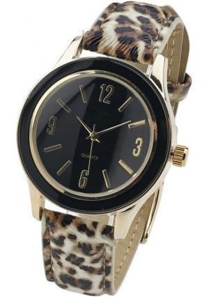 Наручные часы Heine. Цвет: коричневый/золотистый