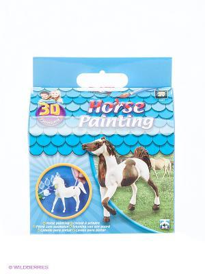 Набор Разрисуй лошадку 3D AMAV. Цвет: синий