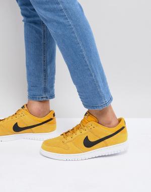 Nike Желтые низкие кроссовки Dunk 904234-700. Цвет: желтый