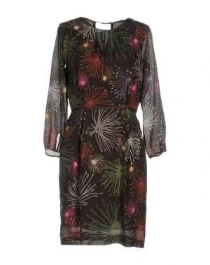 Короткое платье OTTOD'AME. Цвет: темно-коричневый