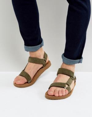 Teva Замшевые сандалии Original Universal. Цвет: зеленый