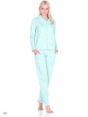 Пижама женская NICOLETTA. Цвет: серо-зеленый