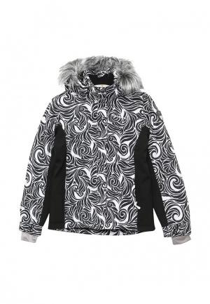 Куртка утепленная Icepeak. Цвет: черно-белый