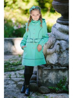 Пальто DUWALI. Цвет: бирюзовый