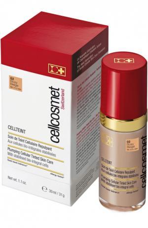Клеточный крем с тональным эффектом CellTeint 02 Cellcosmet&Cellmen. Цвет: бесцветный