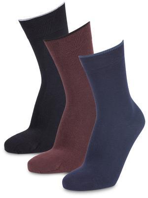 Носки Renaissance, (3 пары) Artsocks. Цвет: черный, коричневый, синий