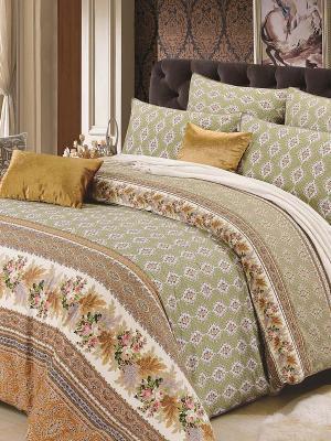 Комплект постельного белья, Римини, 1.5 спальный KAZANOV.A.. Цвет: зеленый