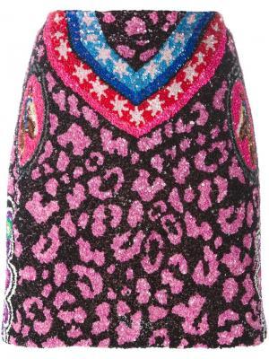 Юбка с животным принтом Manish Arora. Цвет: многоцветный
