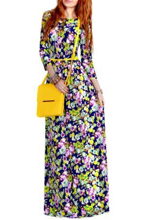 Платье FRANCESCA LUCINI. Цвет: желтый, ромашка