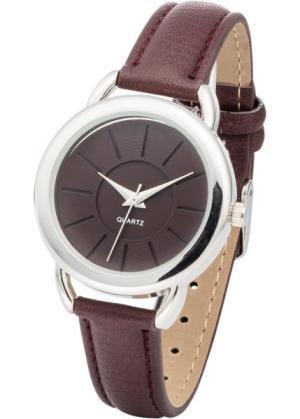 Наручные часы (темно-красный/серебристый) bonprix. Цвет: темно-красный/серебристый