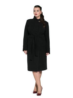 Пальто Alisa Line. Цвет: черный