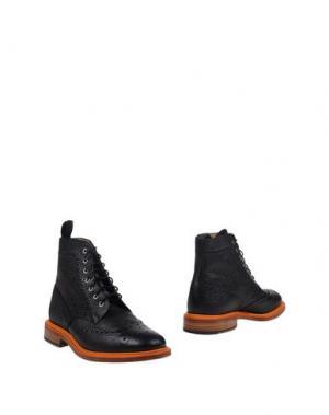 Полусапоги и высокие ботинки MARK MCNAIRY. Цвет: черный