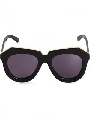 Солнцезащитные очки One Meadow Karen Walker Eyewear. Цвет: чёрный