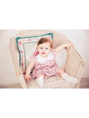 Комплект нательный для малыша Жанэт. Цвет: бордовый, зеленый, розовый