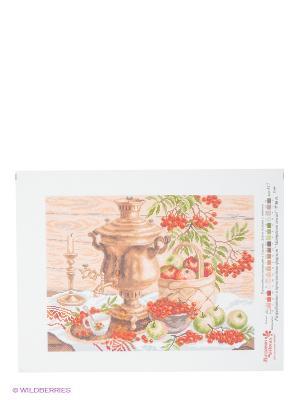 Рисунок на канве Русский колорит Матренин Посад. Цвет: белый, бежевый, красный, оранжевый