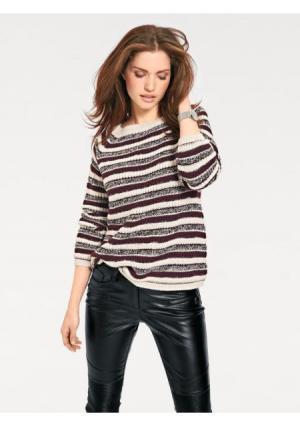 Пуловер B.C. BEST CONNECTIONS by Heine. Цвет: ягодный/экрю
