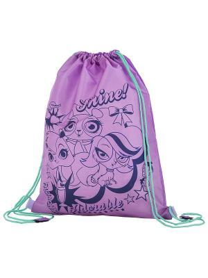 Мешок для обуви. Littlest Pet Shop. Цвет: темно-синий, фиолетовый