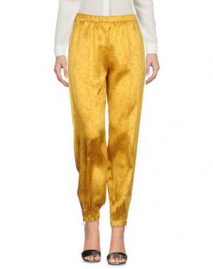Повседневные брюки BEAYUKMUI. Цвет: желтый
