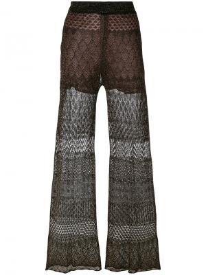 Двухслойные брюки с люрексом Circus Hotel. Цвет: коричневый