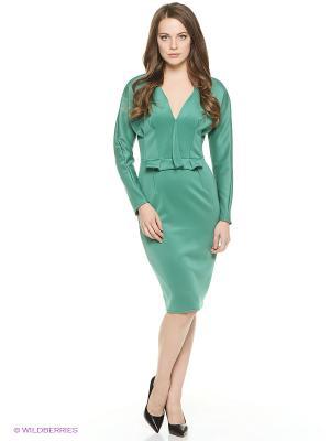 Платье ZAYKINS. Цвет: зеленый