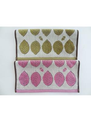 Полотенца банные, 2 шт A and C Collection. Цвет: розовый, салатовый