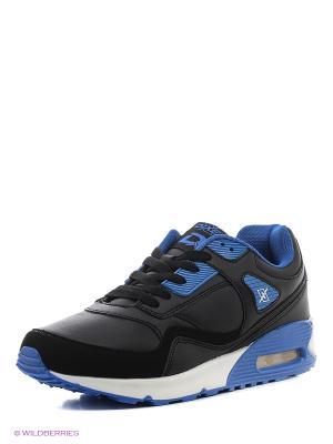 Кроссовки DIXER. Цвет: черный, синий