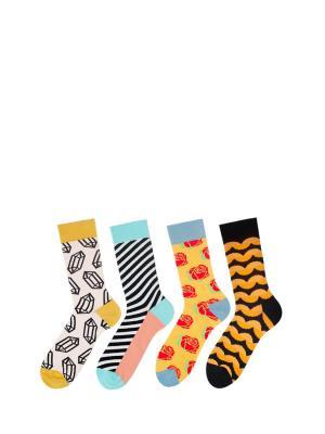 Носки Sammy Icon. Цвет: черный, белый, желтый