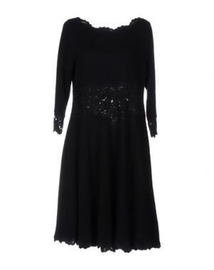 Платье до колена OLVI'S. Цвет: темно-синий