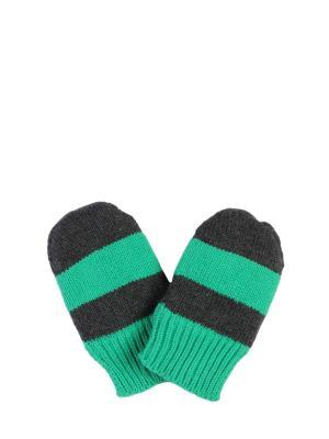 Варежки ТВОЕ. Цвет: зеленый, темно-серый