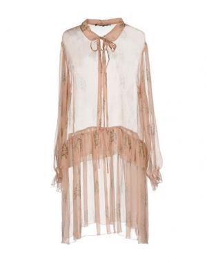 Короткое платье POUSTOVIT. Цвет: розовый