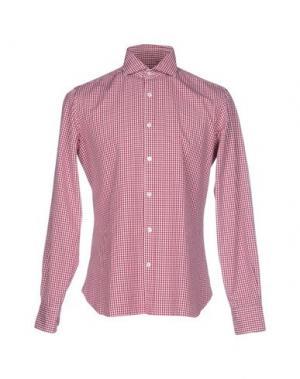 Pубашка DANDYLIFE by BARBA. Цвет: пурпурный