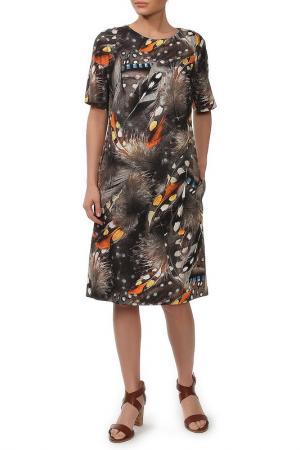 Платье NATALIA PICARIELLO. Цвет: бежевый, оранжевый