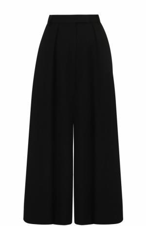 Укороченные широкие брюки со складками Elie Saab. Цвет: черный