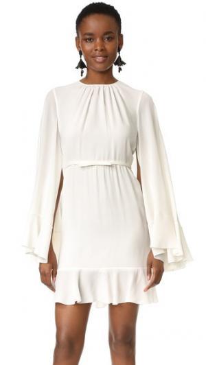 Платье с накидкой сзади Giambattista Valli. Цвет: белый