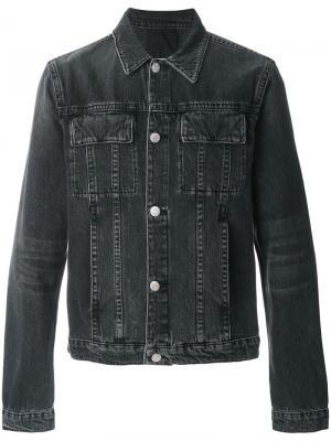 Джинсовая куртка с накладными карманами Helmut Lang. Цвет: чёрный