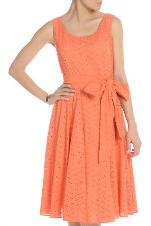 Свободное платье на поясе NATALIA PICARIELLO. Цвет: оранжевый