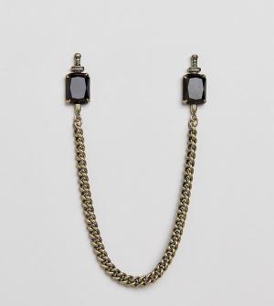 Reclaimed Vintage Уголки для воротника Inspired эксклюзивно ASOS. Цвет: золотой