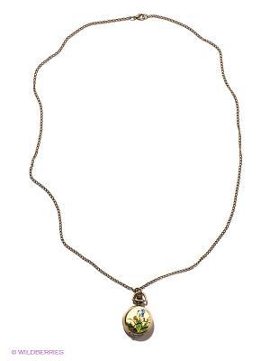 Кулон-часы Птица среди орхидей Mitya Veselkov. Цвет: бронзовый