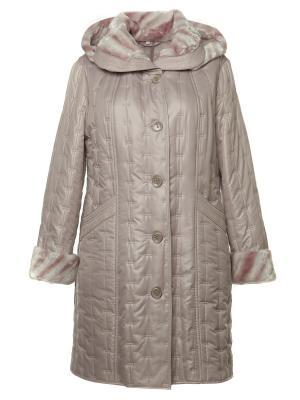 Пальто AMALIA COLLECTION. Цвет: бледно-розовый