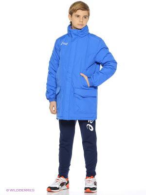 Куртка утепленная JACKET NEW ALPI JR ASICS. Цвет: синий