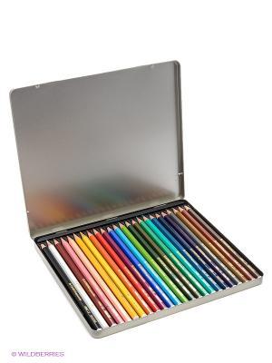 Набор цветных карандашей, 24 цв. Stabilo. Цвет: серебристый